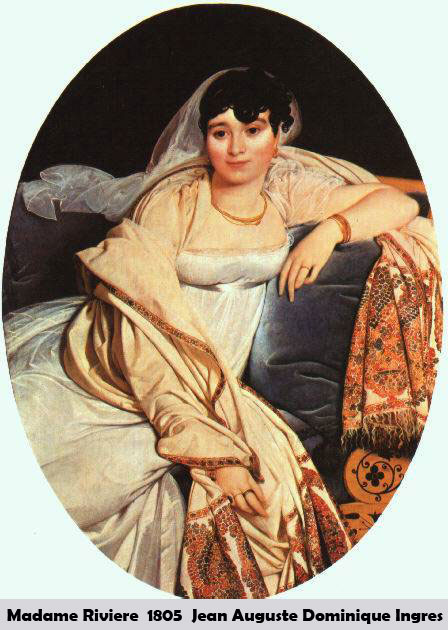 Madame Riviere by Jean Auguste Dominique Ingres-Portrait Painting