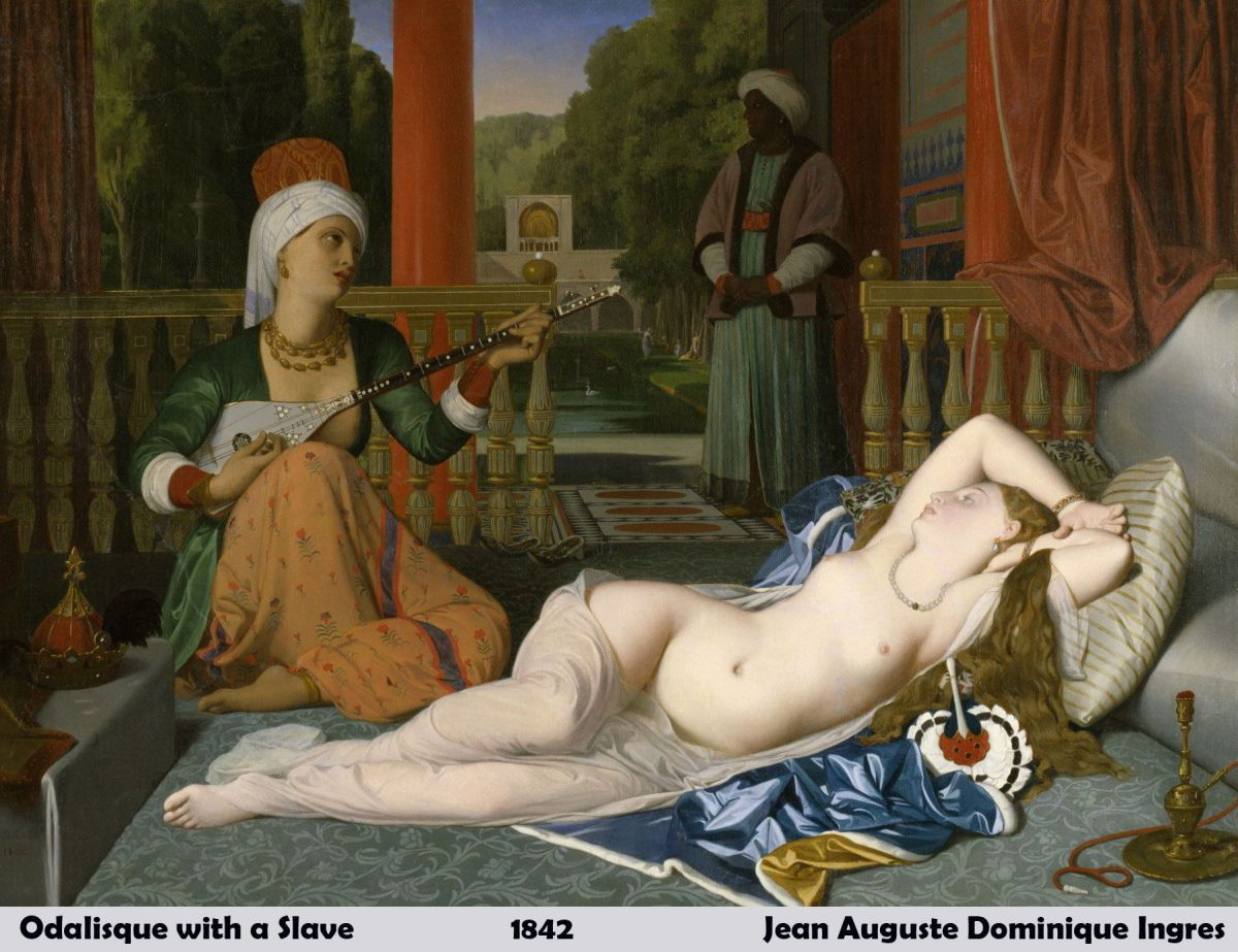 Odalisque with a Slave by Jean Auguste Dominique Ingres-History Painting