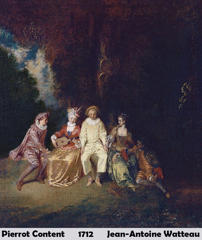 Pierrot Content by  Jean Antoine Watteau