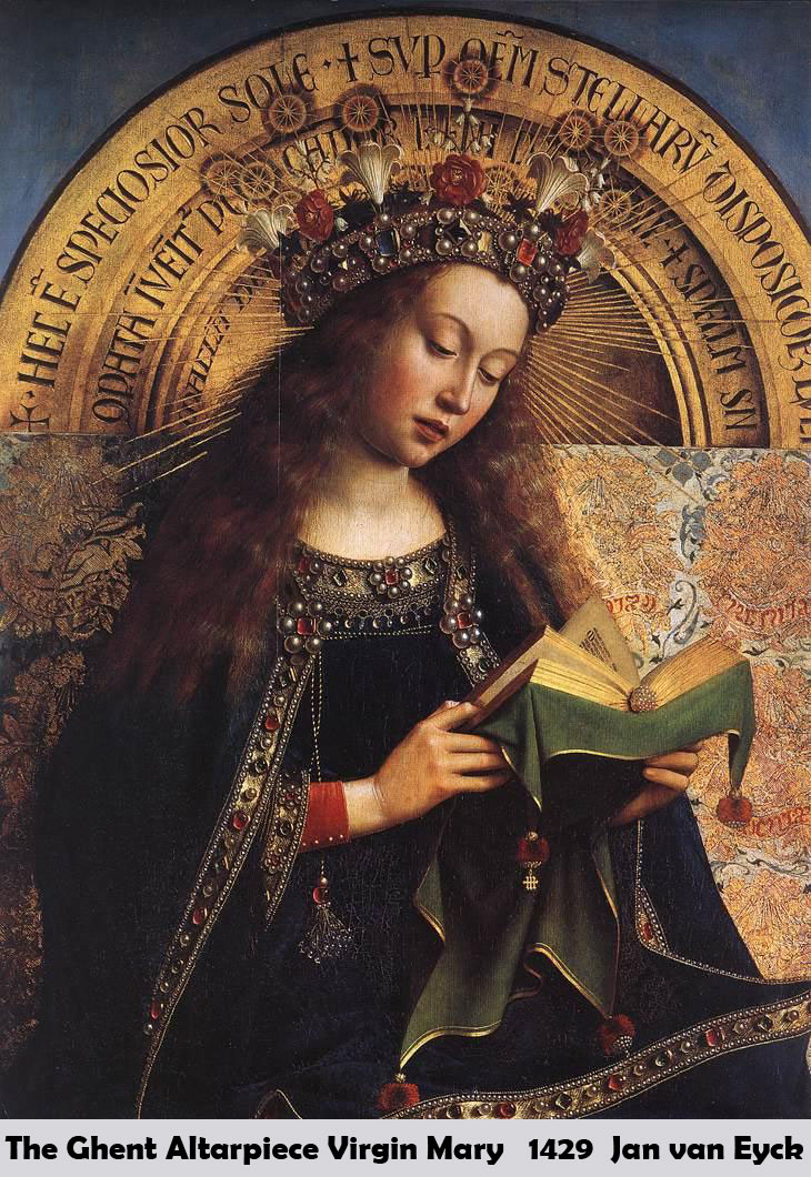 The Ghent Altarpiece Virgin Mary by Jan van Eyck
