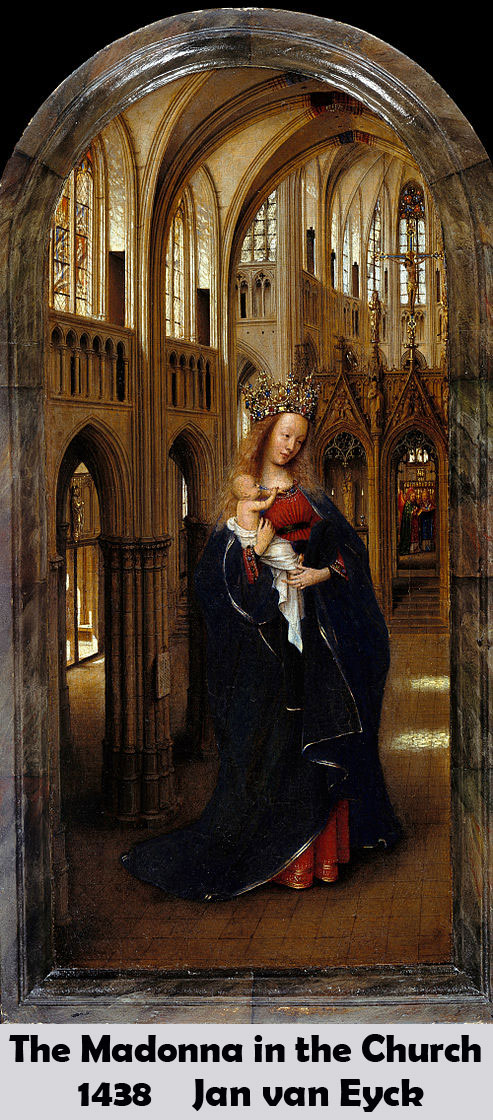 The Madonna in the Church by Jan van Eyck-History Painting