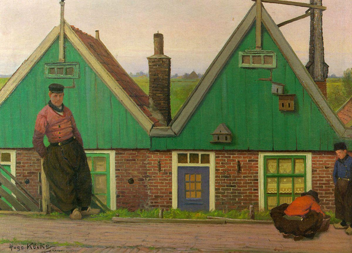Dyke Houses Volendam by Wilhelm Georg Hugo Kocke
