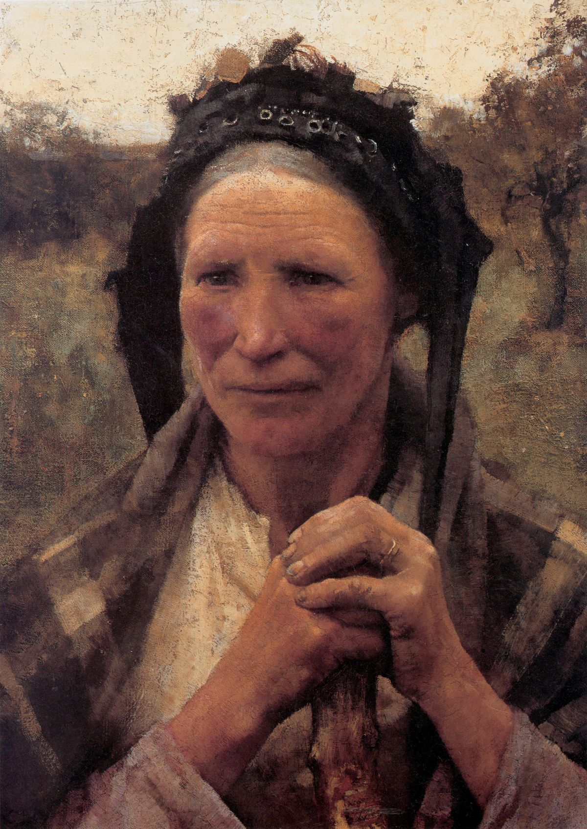Head of a Peasant Woman by Sir George Clausen