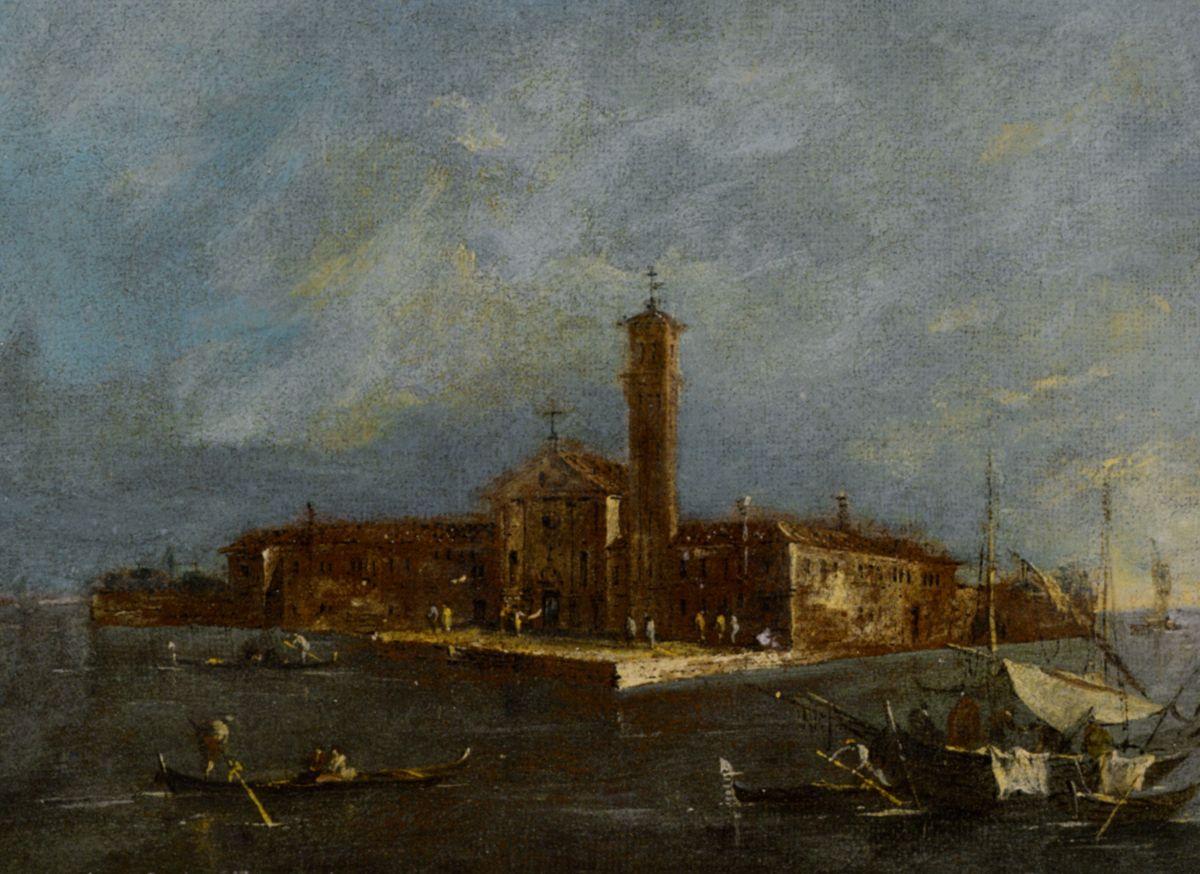 A View of the Island of Santa Maria delle Grazie by Giacomo Guardi