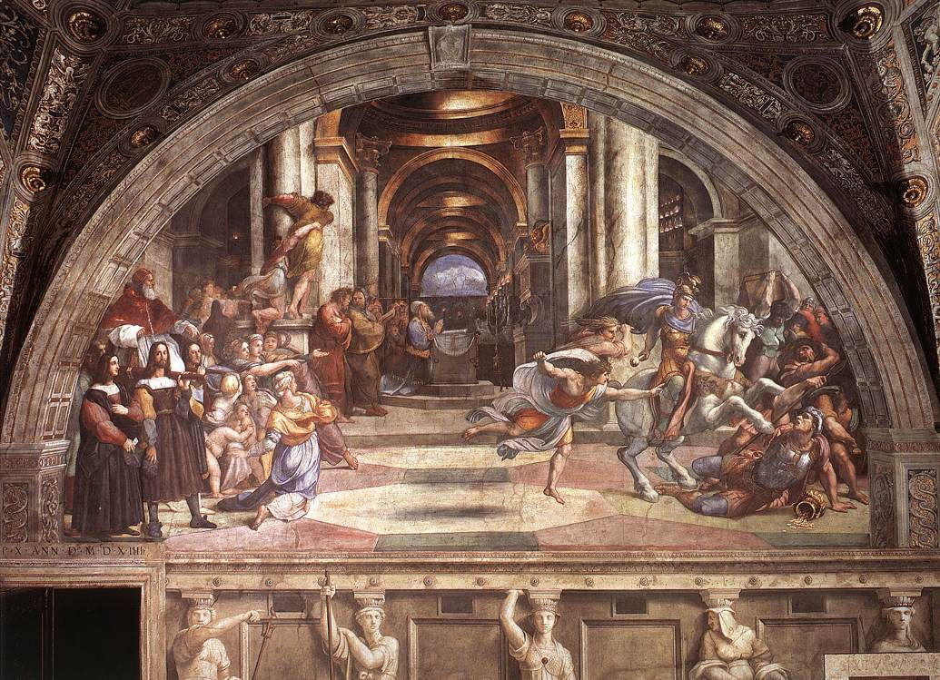 The Expulsion of Heliodorus from the Temple by Raphael