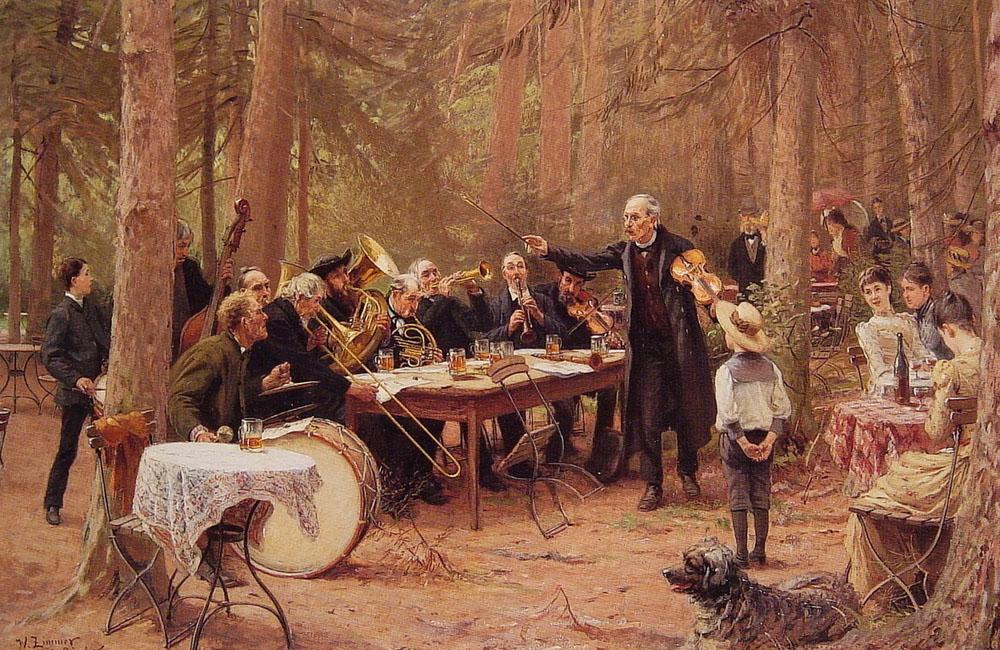The Orchestra, Biergarten by Wilhelm Carl August Zimmer