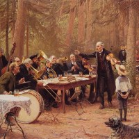 The Orchestra, Biergarten by Wilhelm Carl August Zimmer