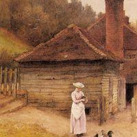Feeding Chickens by Charles Edward Wilson