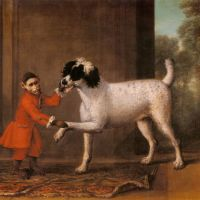 A Favorite Poodle And Monkey Belonging To Thomas Osborne, The 4th Duke of Leeds by John Wootton