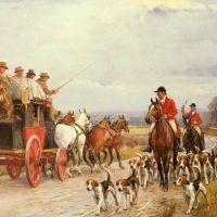 A Hunt Passing a Coach by John Sanderson Wells