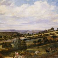 A Rest in a Fertile Valley by William Frederick Witherington