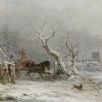 A Snow Storm by George Augustsus Williams