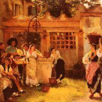 A Venetian Fan Seller by Henry Woods