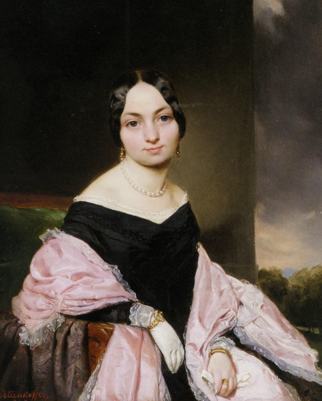 Amelie Von Nespern GEB. Mayerhofer Tante des Kunstlers by August Xaver Carl Von Pettenkofen