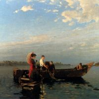 An Afternoon's Boating by Joseph Wopfner