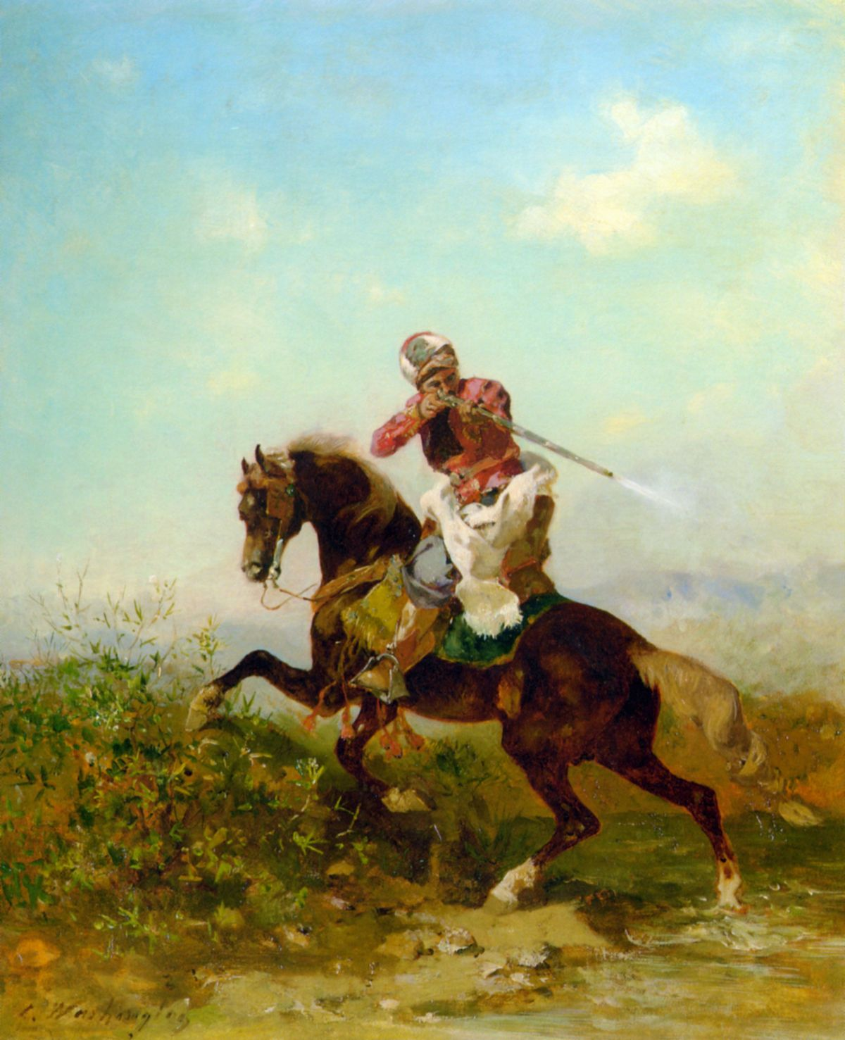 An Arab Warrior by Georges Washington