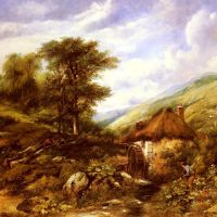 An Overshot Mill In A Wooded Valley by Frederick William Watts
