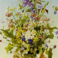 Anemonen Lillien und Andere by Franz Xaver Wolf