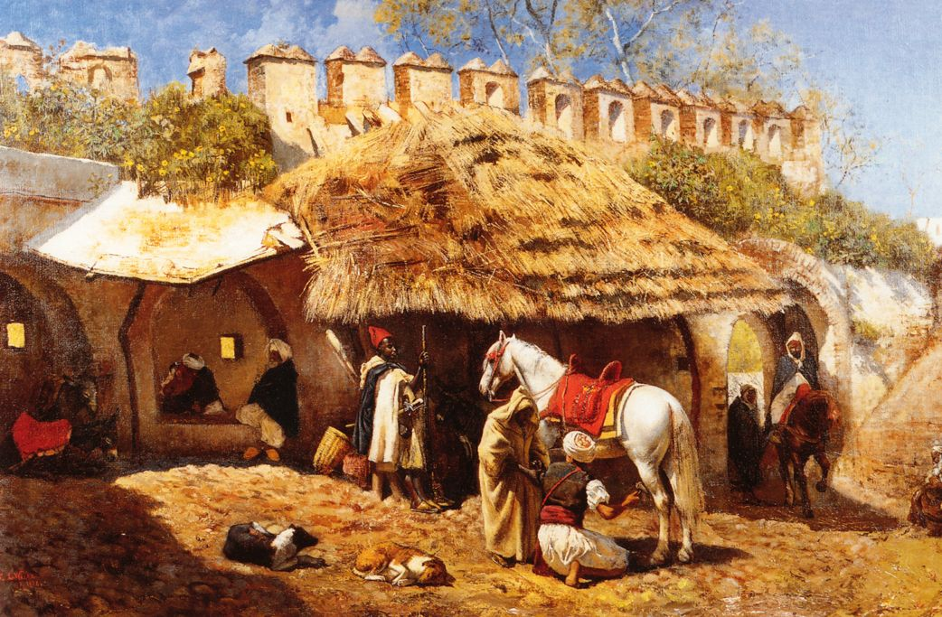 Blacksmith Shop at Tangiers by Edwin Lord Weeks