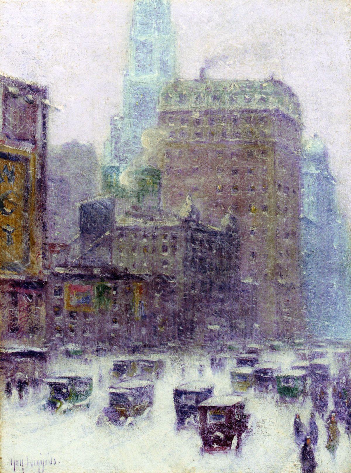 Broadway Winter by Guy Carleton Wiggins