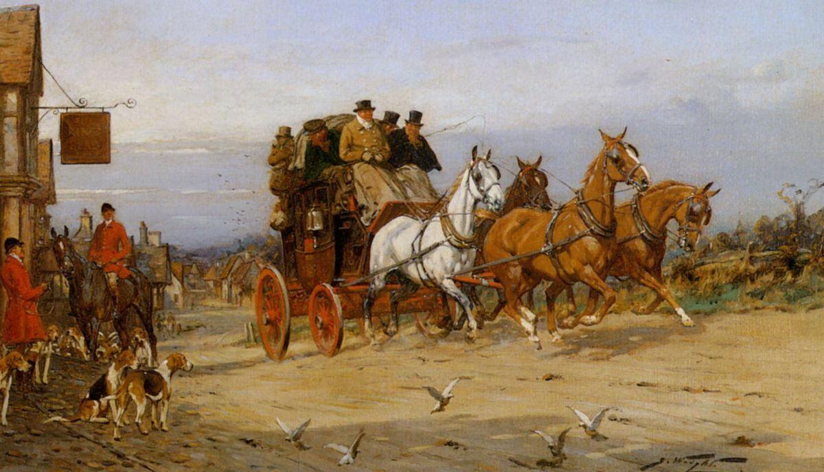 By The Fox Inn by George Wright