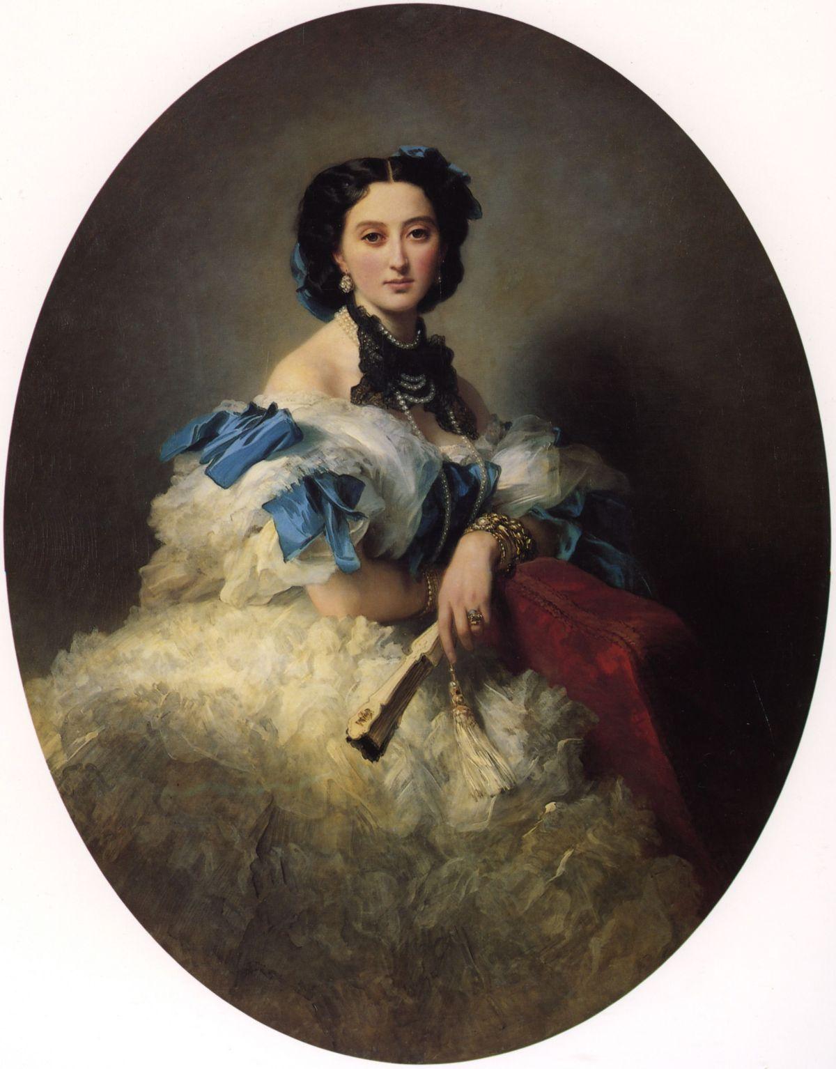 Countess Varvara Alekseyevna Musina  Pushkina by Franz Xavier Winterhalter