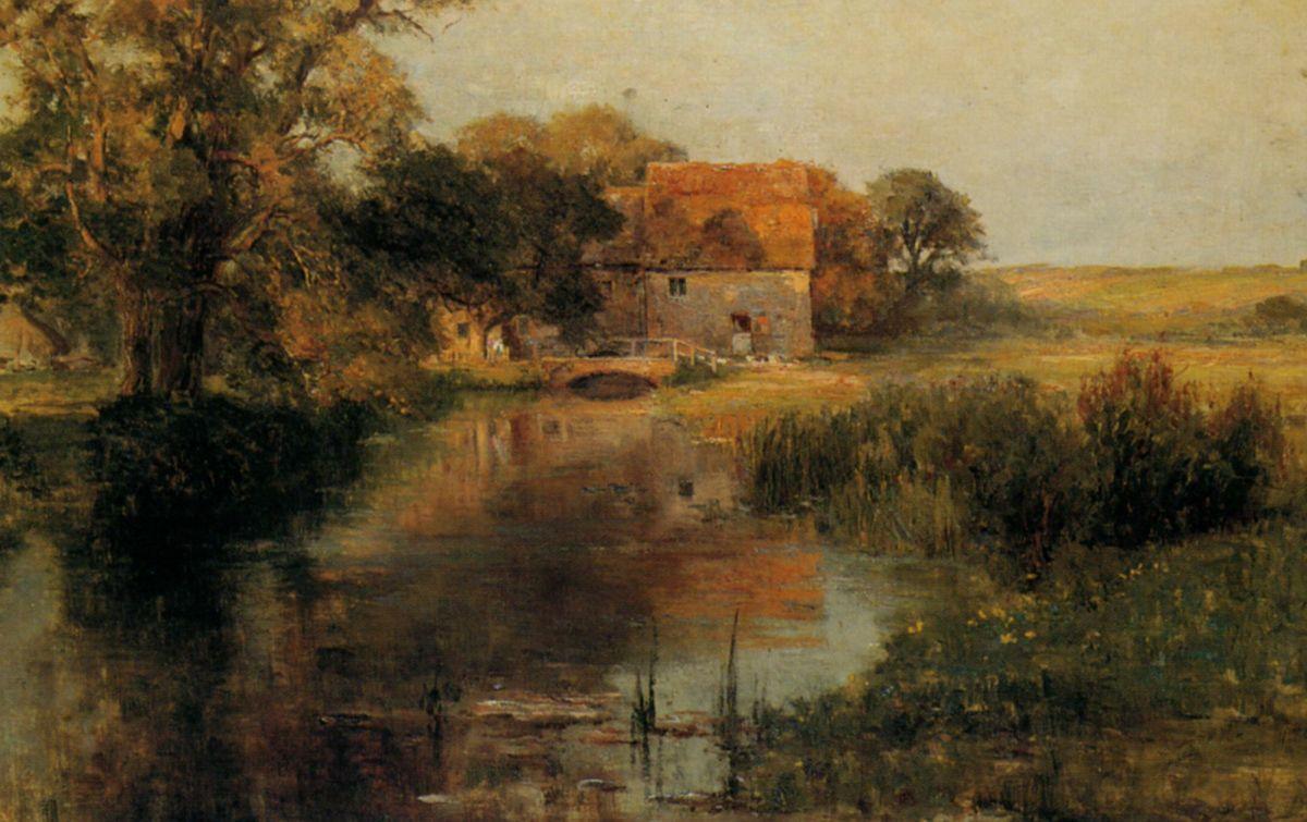 Dorchester Mill Oxfordshire by Ernest Walbourn