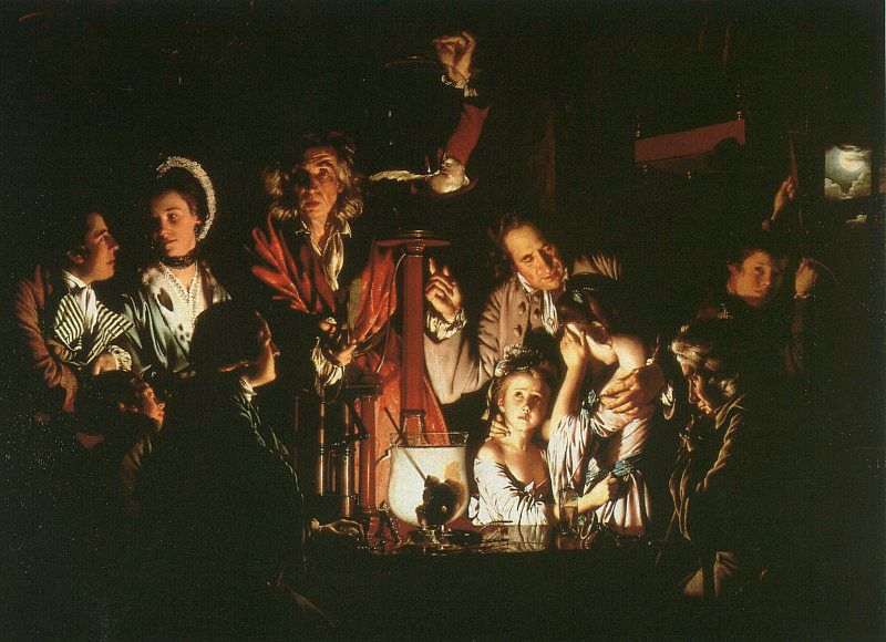 Experiment with the AirPump by Joseph Wright of Derby