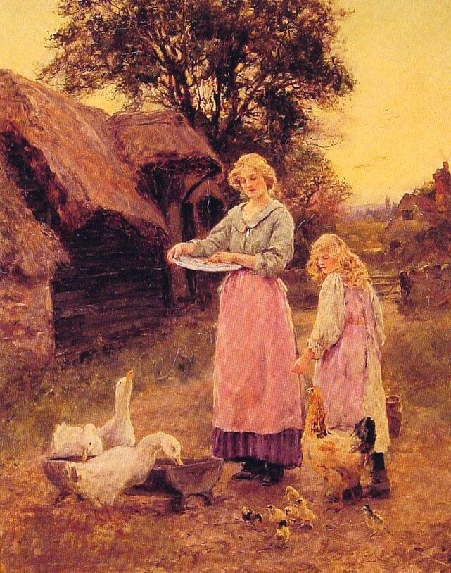 Feeding the Ducks by Lilian Yeend King