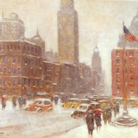 Fifth Avenue At Madison Square by Guy Carleton Wiggins