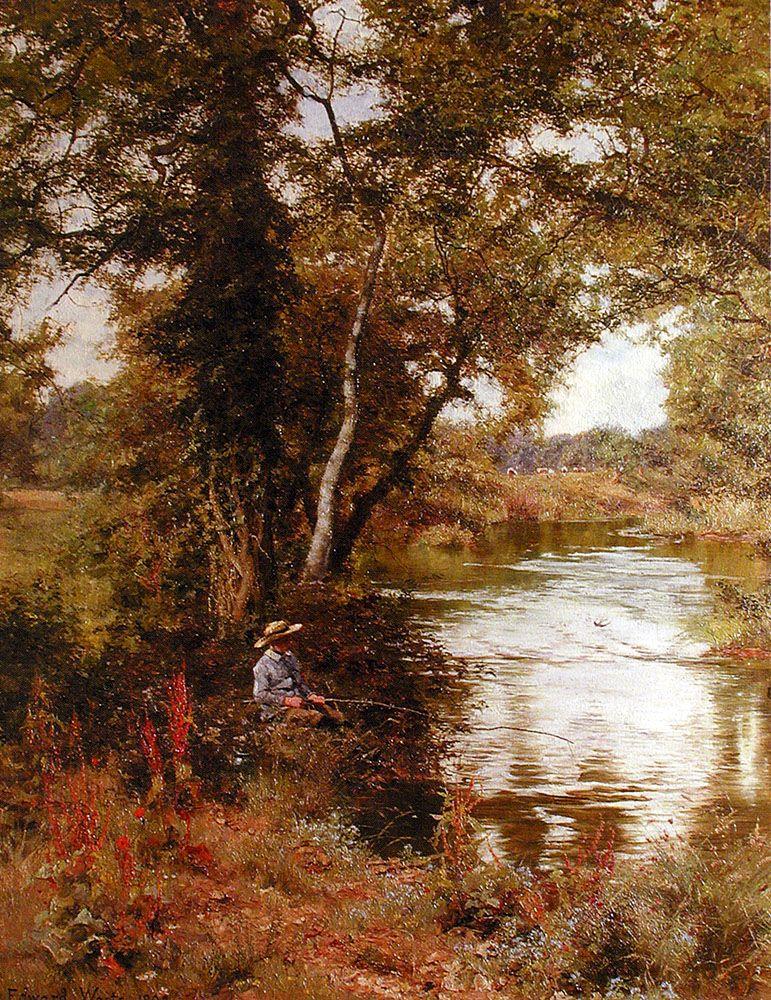 Fishing by Edward Wilkins Waite