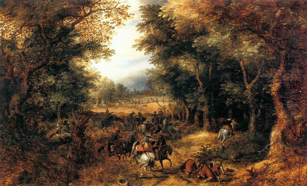 Forest Scene with Robbery by David Vinckbooms