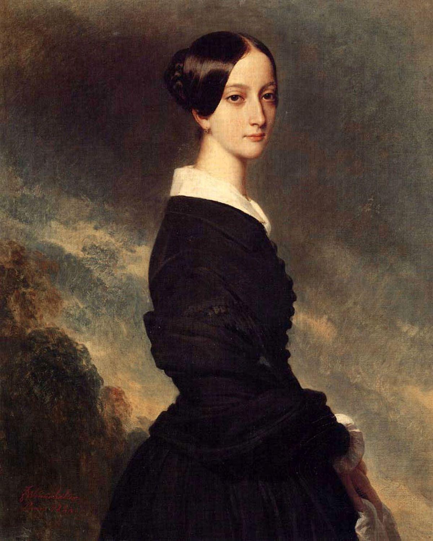 Francoise Caroline Gonzague  Princesse de Joinville by Franz Xavier Winterhalter