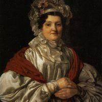 Frau In Weisser Spitzenhaube by Ferdinand Georg Waldmuller