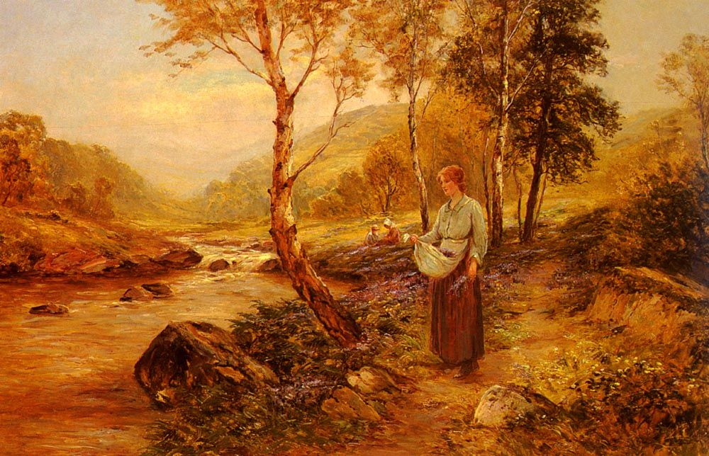 Gathering Wildflowers by Ernest Walbourn