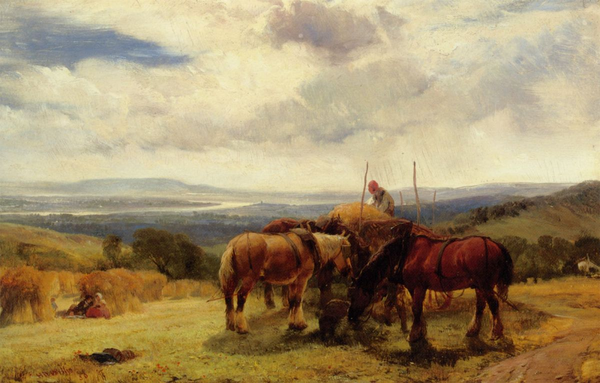 Harvest Horses by Henry Brittan Willis