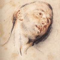 Head of a Man by Jean Antoine Watteau