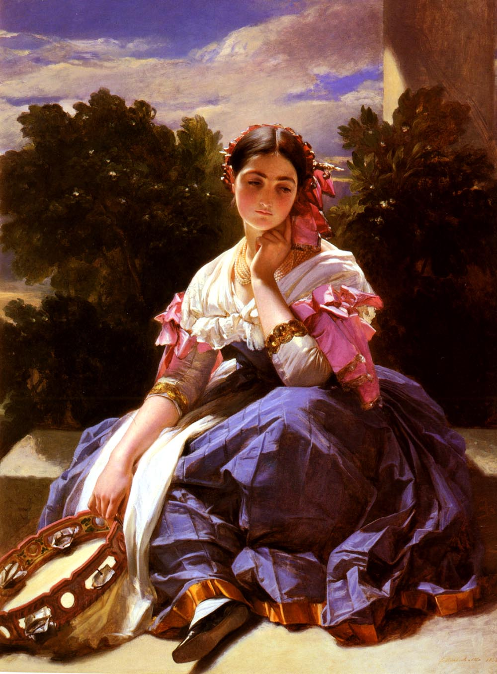 Jeune Fille De L Ariccia by Hermann Winterhalter