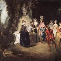 La gamme d'amour by Jean Antoine Watteau