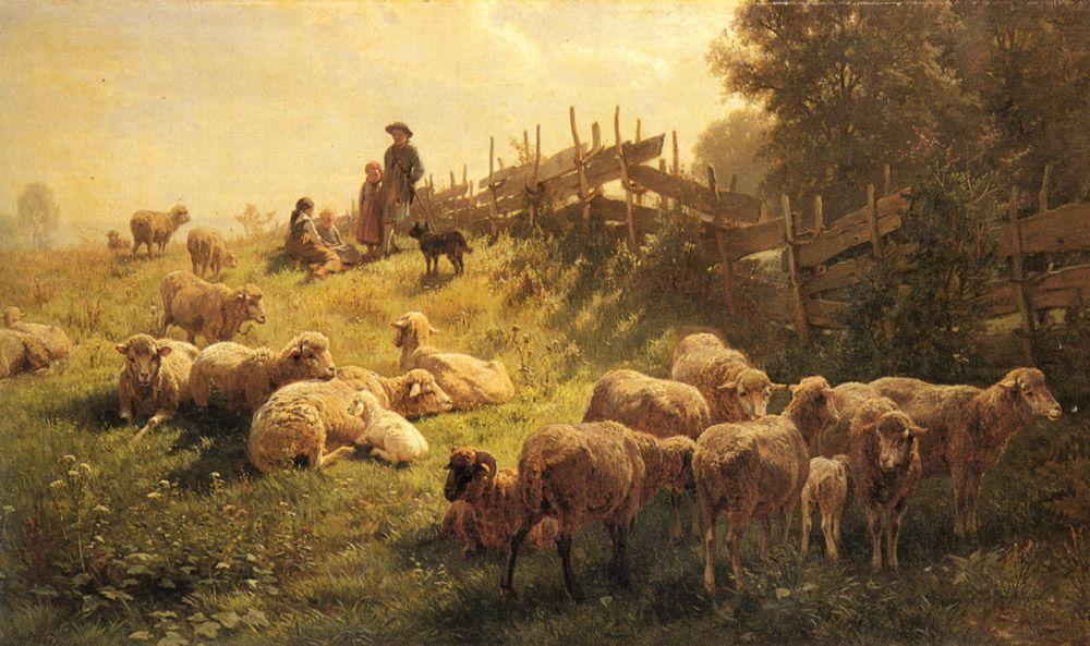 Near Obersdorf Bavaria by Gottlieb Daniel Paul Weber