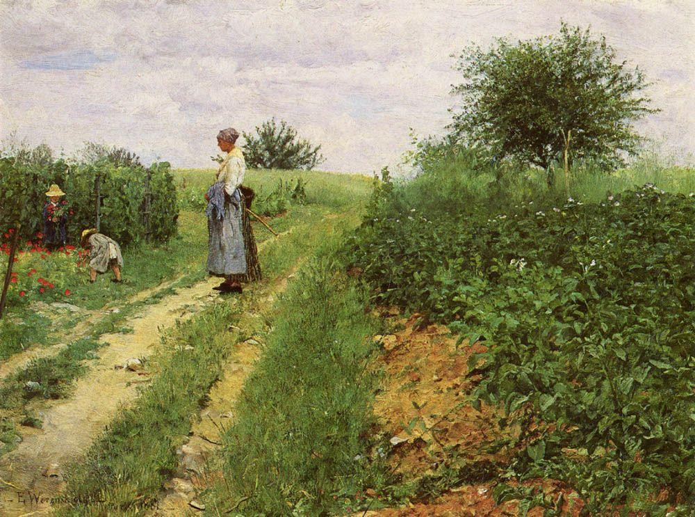 Picking Flowers by Erik Theodor Werenskiold