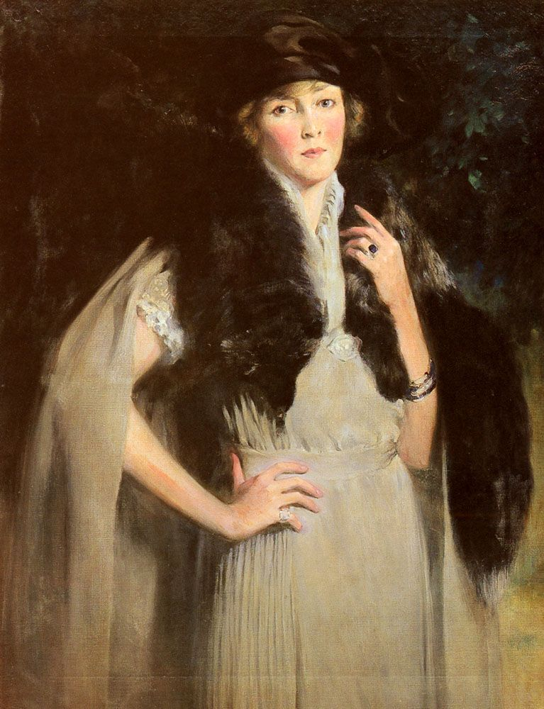 Portrait Of Mrs Edward W Redfield by Irving Ramsay Wiles