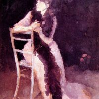 Rose and Silver: Portrait of Mrs Whibley by James Abbott McNeill Whistler