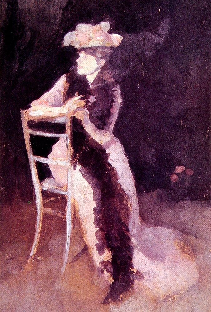 Rose and Silver Portrait of Mrs Whibley by James Abbott McNeill Whistler