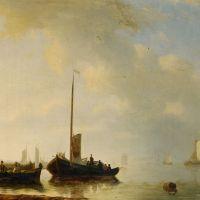 Sailing vessels off the Dutch coast by Antonie Waldorp