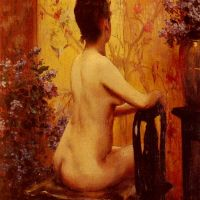 Seated Nude by Irving Ramsay Wiles
