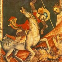St George 's Battle with the Dragon by Vitale d'Aimo de Cavalli