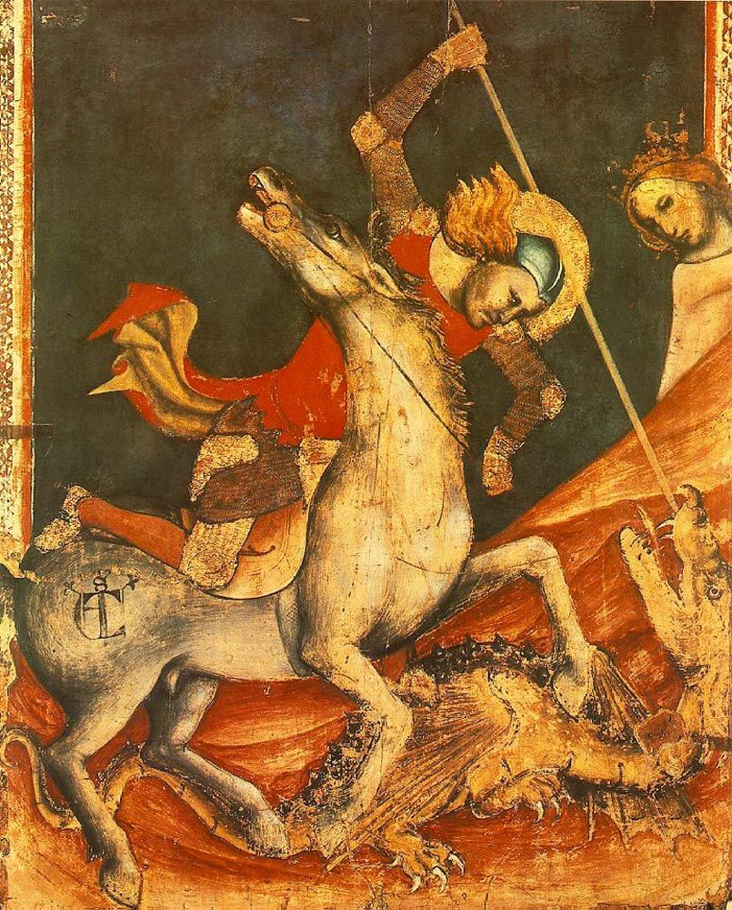 St George s Battle with the Dragon by Vitale dAimo de Cavalli
