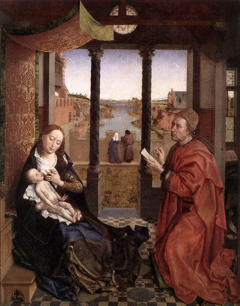St Luke Drawing a Portrait of the Madonna by Rogier van der Weyden