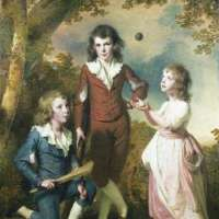 The Children of Hugh and Sarah Wood of Swanwick, Derbyshire by Joseph Wright of Derby